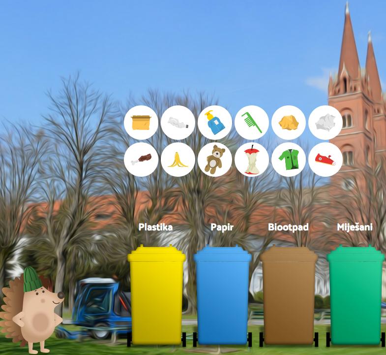 Pomozi jezicu pravilno odvojiti otpad